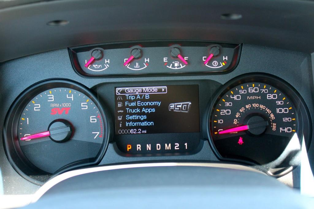 2013 Ford SVT Raptor Multi Function Screen 018 Ford F 150 Blog