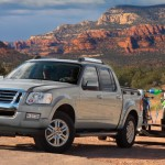 2010 ford explorer sport trac towing dirt bikes