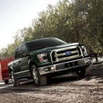 2015 F-150 XLT in Green towing