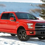 2015 Ford F-150 Crew Cab FX4 with dirt bike in bed