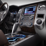 Infotainment and gear selector