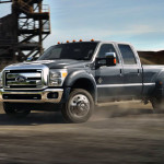 2015 F-450 Super Duty Blue at Construction Site