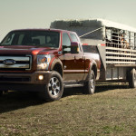 2015 Ford F-250 Super Duty Towing Horse Trailer