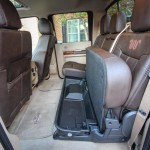 2015 Ford F-Series Super Duty Crew Cab King Ranch Edition Interior with seat folded up