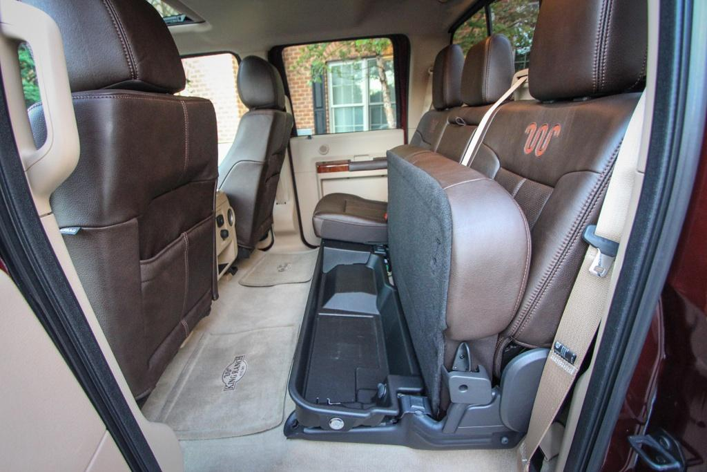2015 ford f series super duty crew cab king ranch edition interior with seat folded - 2014 Ford F Series Super Duty