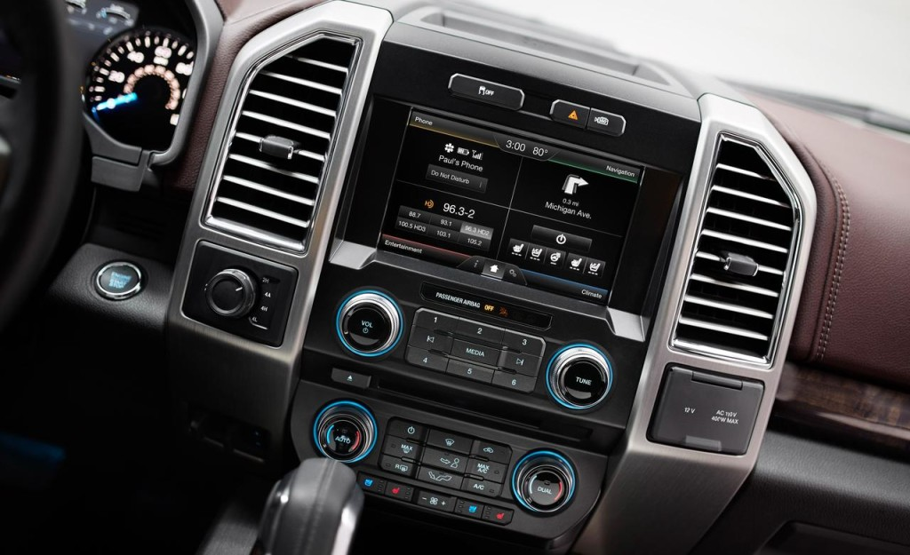 2015 Ford F 150 Interior Center Stack Close Up