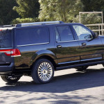 2015 Lincoln Navigator Extended Wheelbase Rear Three Quarter