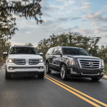 2015 Navigator and 2015 Escalade side-by-side