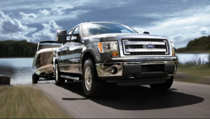 2013 Ford F-150 Crew Cab EcoBoost towing a boat