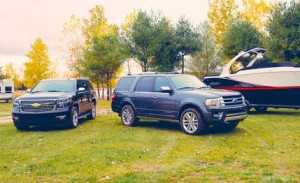 2015 Ford Expedition and 2015 Chevy Tahoe