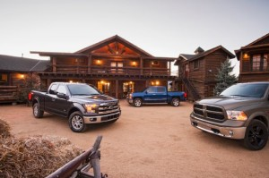 2015 Ford F-150, 2015 Chevy Silverado and 2015 Ram 1500