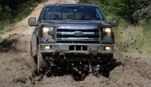 2015 Ford F-150 4WD in Mud