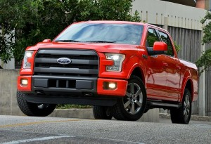 2015 Ford F-150 Red with 5.0 liter V8