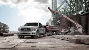 2015 Ford F-150 Towing Heavy Industrial Load