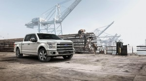 2015 Ford F-150 at Construction Site