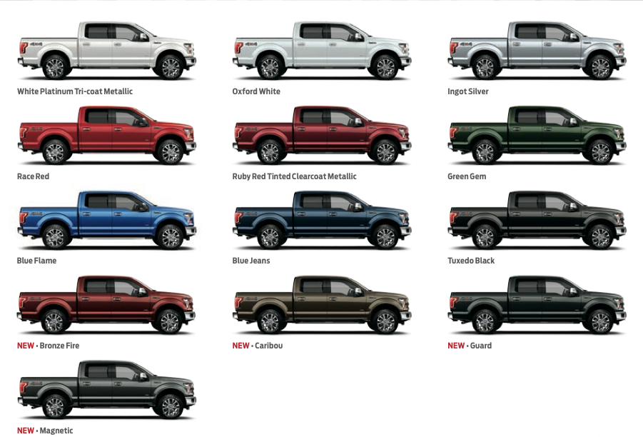 2015 Ford F 150 Has 15 Colors Available Ford F 150 Blog