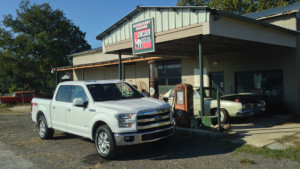 2015 Ford F-150 Crew Cab at Vintage Gas Station