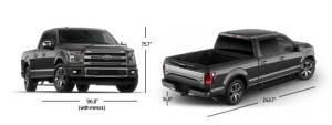 2015 Ford F-150 SuperCrew Dimensions
