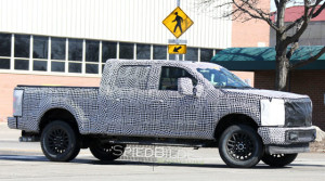 2017 Ford F-250 and F-350 spy shot