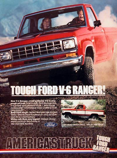 Ford Ranger Advertisement on 1992 F 150 Trucks