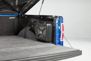 Ford F-150 Swing-out storage box stowed