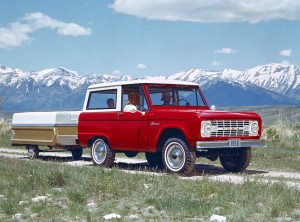 1966 Ford Bronco Advertisement with pop-up campter