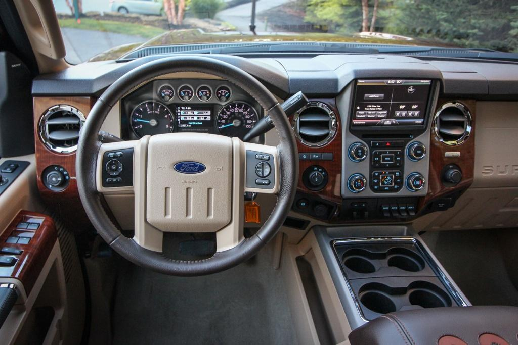 Ford F150 Ecoboost Mpg >> 2015 Ford F-250 King Ranch Edition interior | Ford F-150 Blog