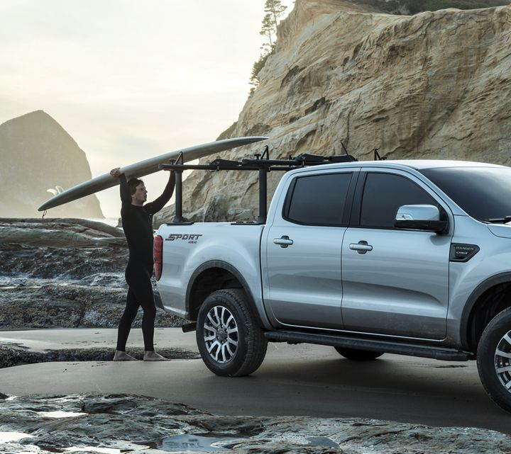 2019 Ford Ranger Sport Crew Cab With Bed Rack